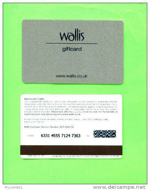 UK - Magnetic Gift Card/Wallis - Unclassified