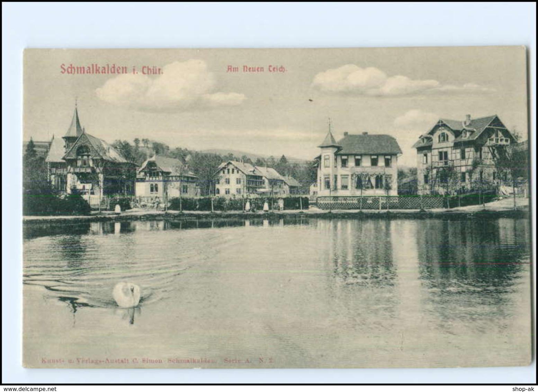 U4385-985./ Schmalkalden Am Neuen Teich AK - Allemagne