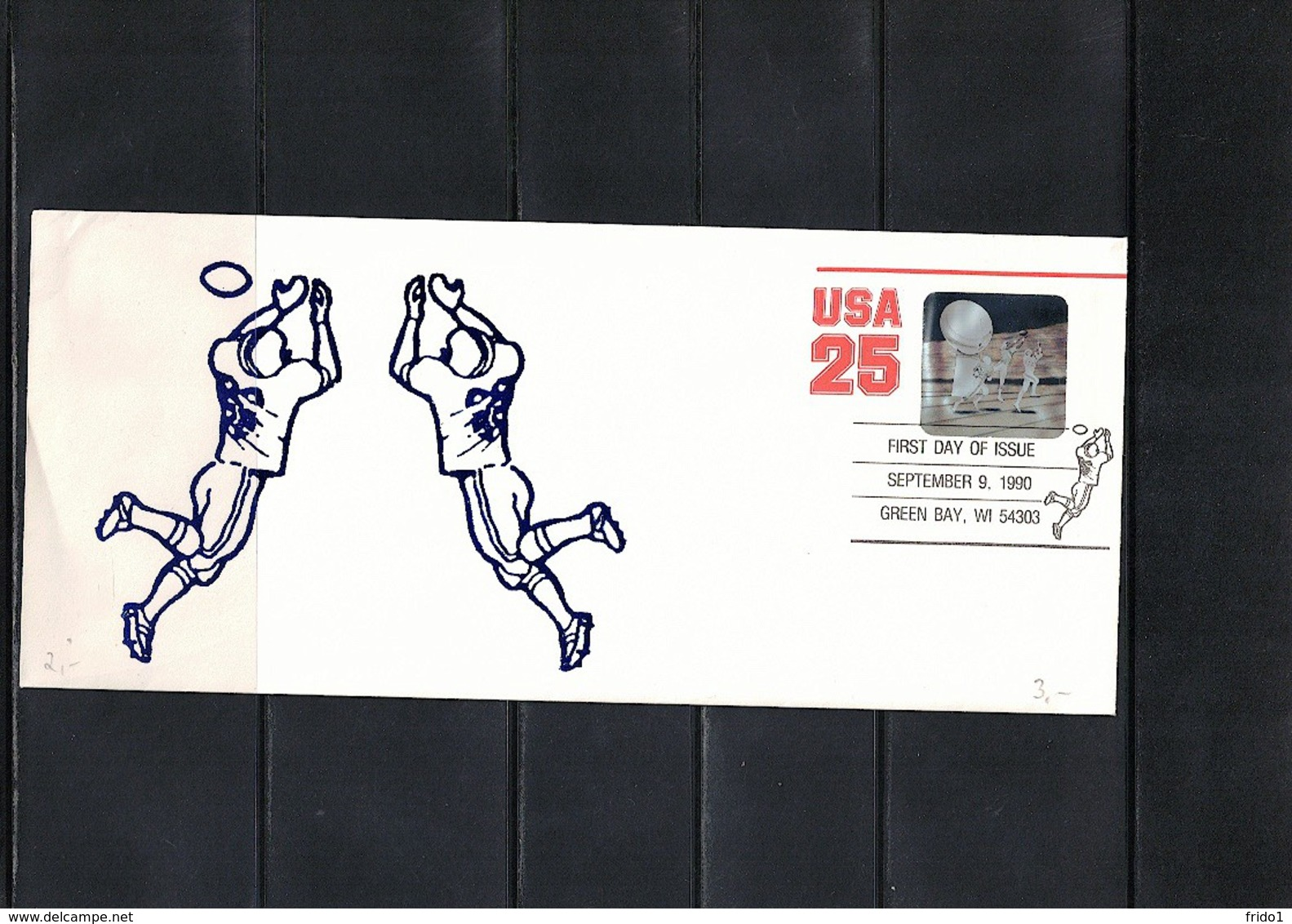 USA 1990 Rugby FDC - Rugby