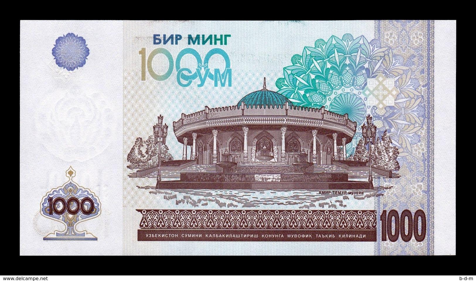 Uzbekistan Lot Bundle 10 Banknotes 1000 Sum 2001 Pick 82 SC UNC - Uzbekistán