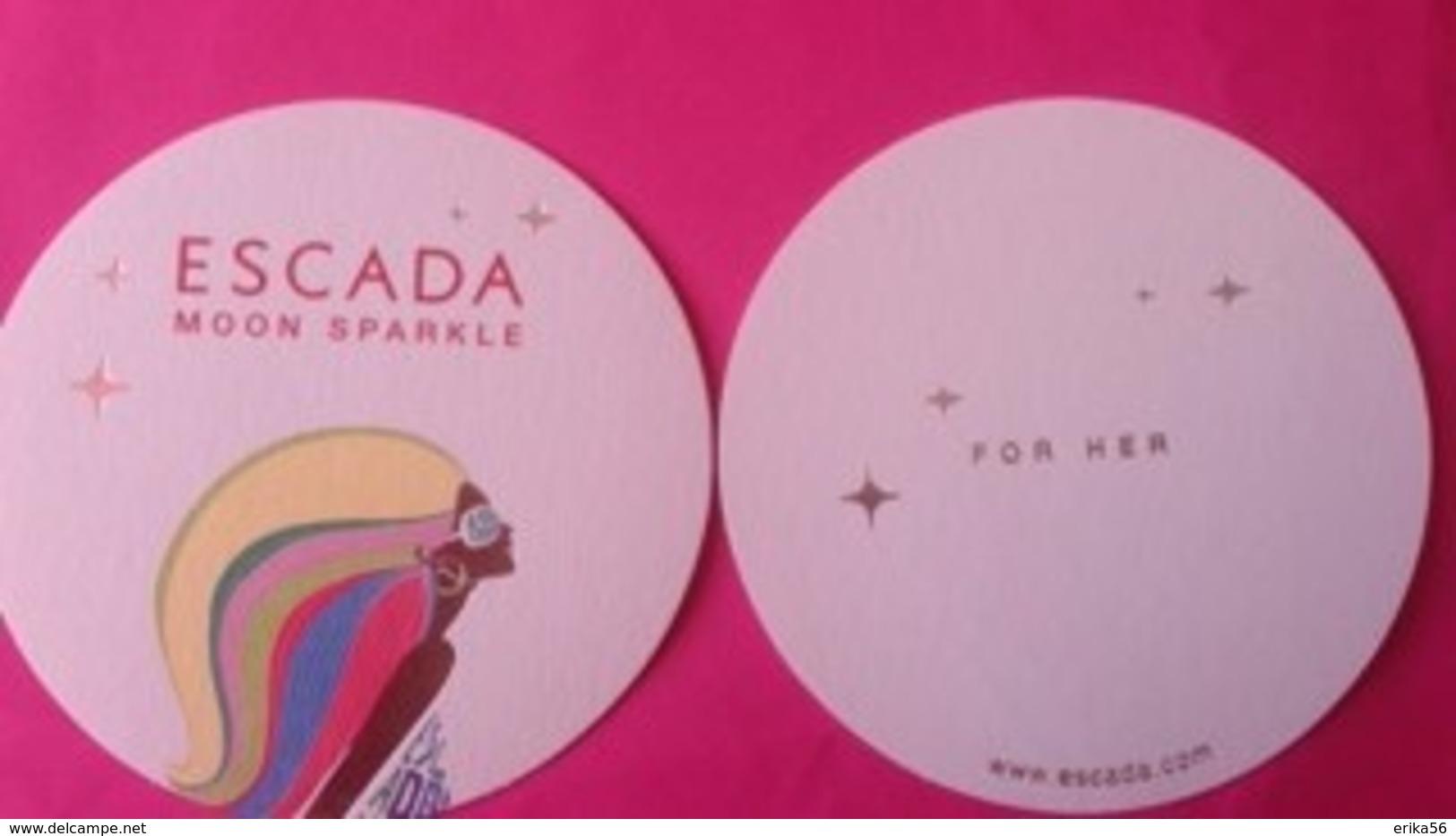 MOON SPARKLE  ESCADA  2 Cartes - Perfume Cards