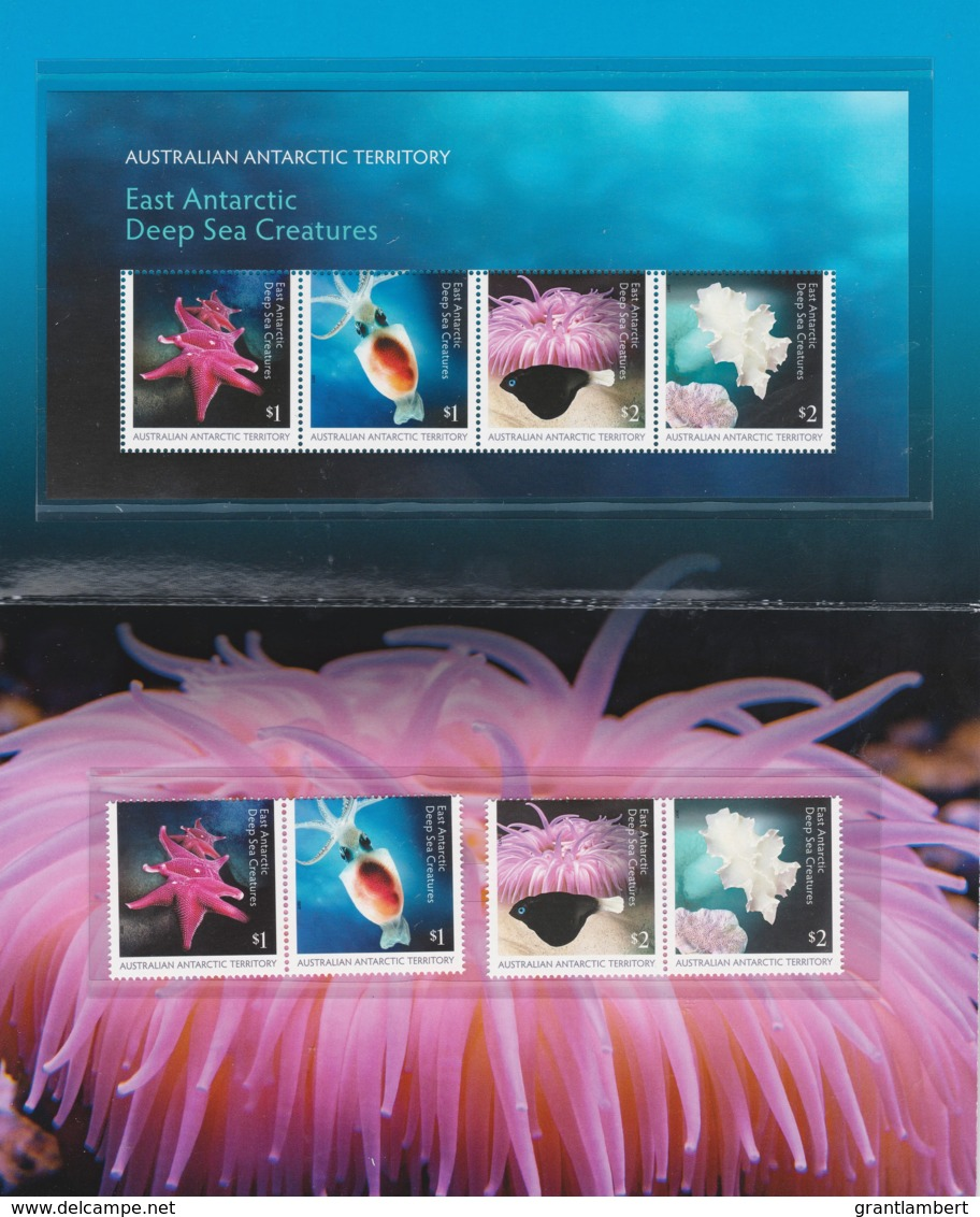 Australian Antarctic 2017 Deep Sea Creatures Presentation Pack - Unused Stamps
