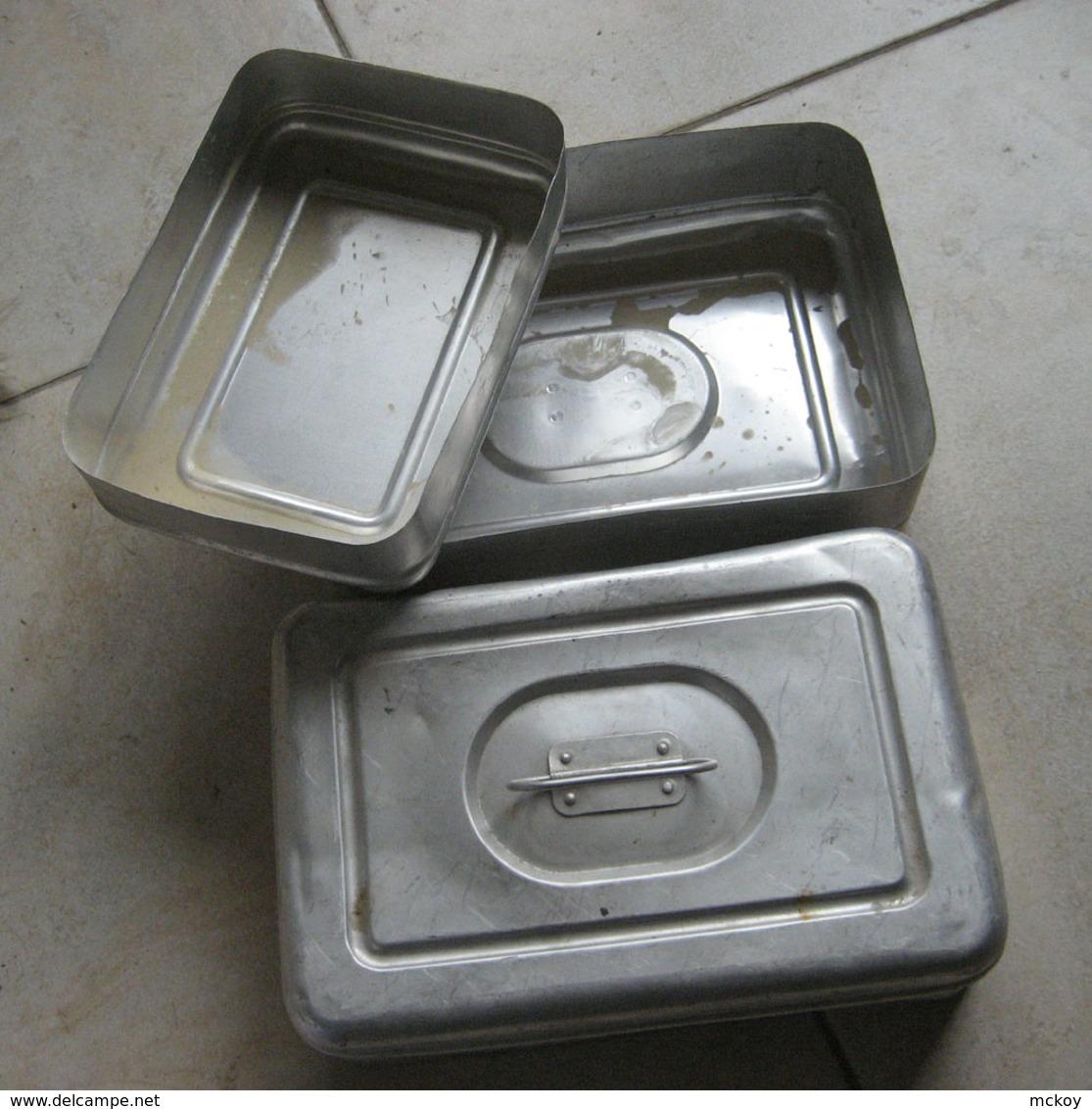 Gamelle Alu Surement Post Ww2 (à Vérifier) 25cm X 17 Cm - Equipement