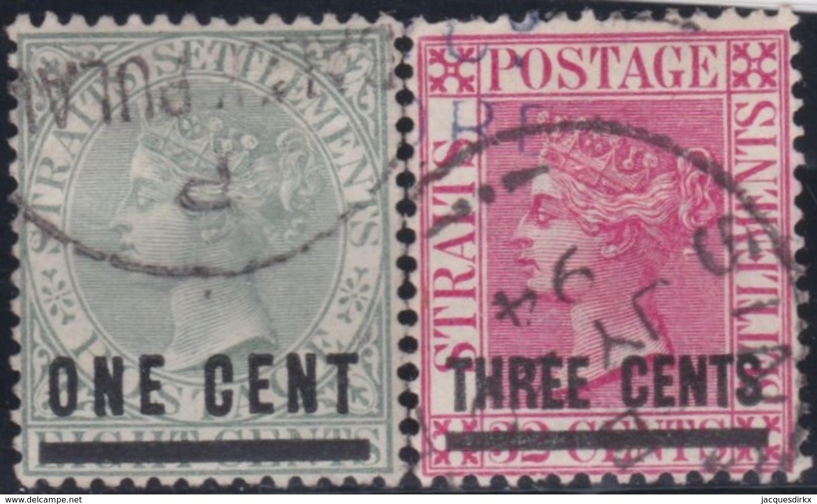 Straits Settlements   .   SG     .    93/94        .      O         .     Cancelled      .   /    .  Gebruikt - Straits Settlements
