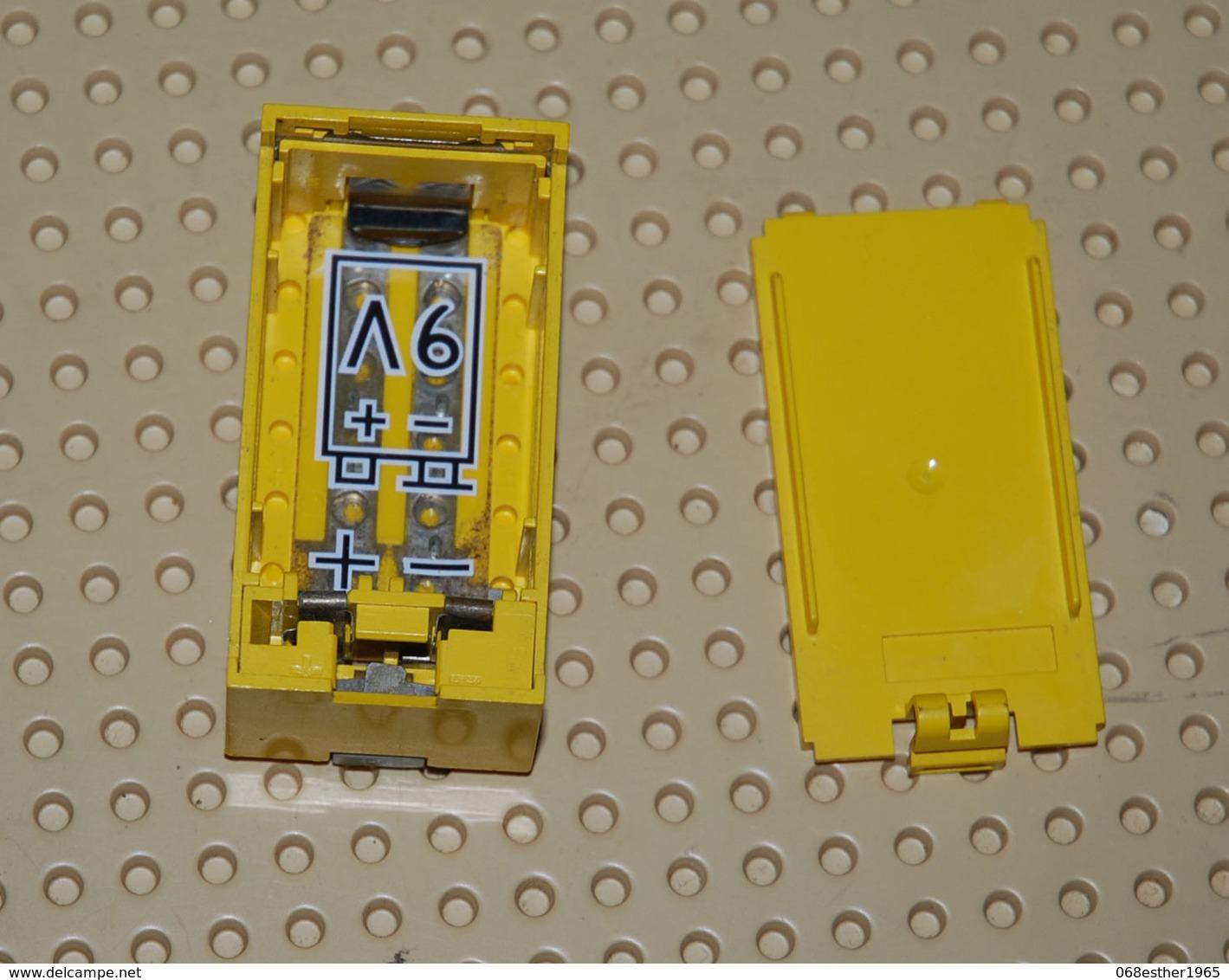 Lego Boitier électrique Pile Jaune Complète Avec Couvercle 9v 8 X 4 X 2.33 Ref 4760c01 (sans Pile) - Lego Technic