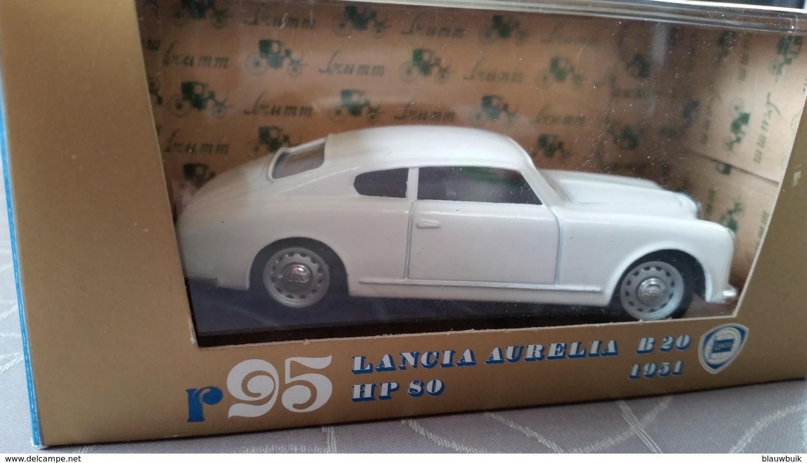 1/43 Brumm (Italy) Lancia Aurelia B20 HP80 1951 #95 Wit - Brumm