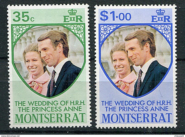 Montserrat **  N° 300/301 - Mariage De La Princesse Anne D'Angleterre  - - Montserrat