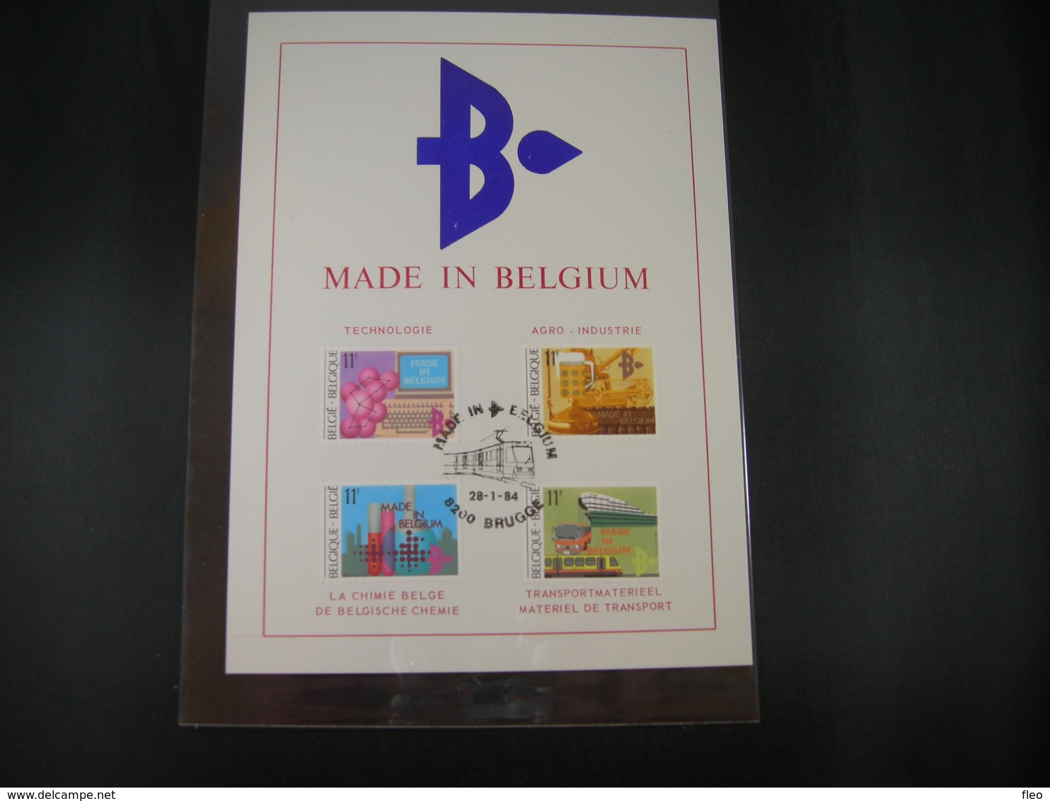 "BELG.1984 2114 2115 2116 & 2117 Philacard :"" Made In Belgium "" - FDC"