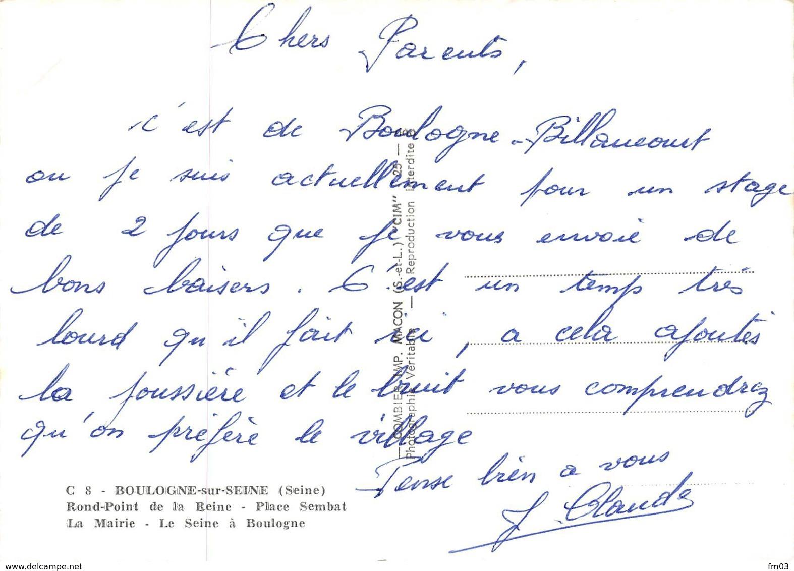 Boulogne Billancourt Renault Dauphine - Boulogne Billancourt