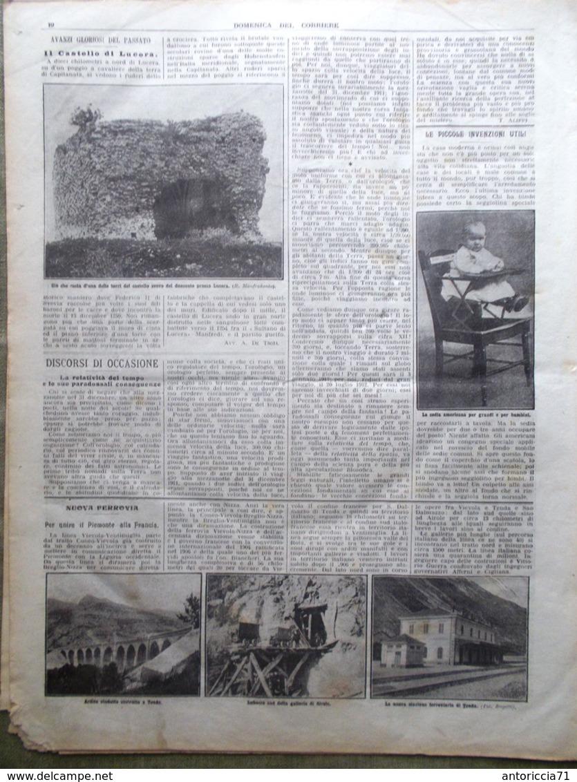 La Domenica Del Corriere 31 Dicembre 1911 Ain Zara Messina Eritrea Croce Rossa - Libri, Riviste, Fumetti