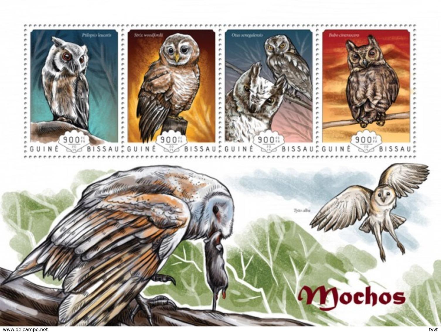 Guinea-Bissau, 2014. [gb14607] Birds, Owls (s\s+bl) - Owls