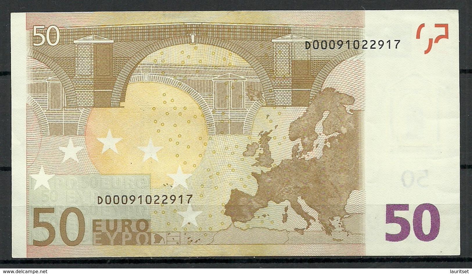 ESTONIA Estland 50 EURO 2002 D-Serie Banknote RO51B2 - 50 Euro