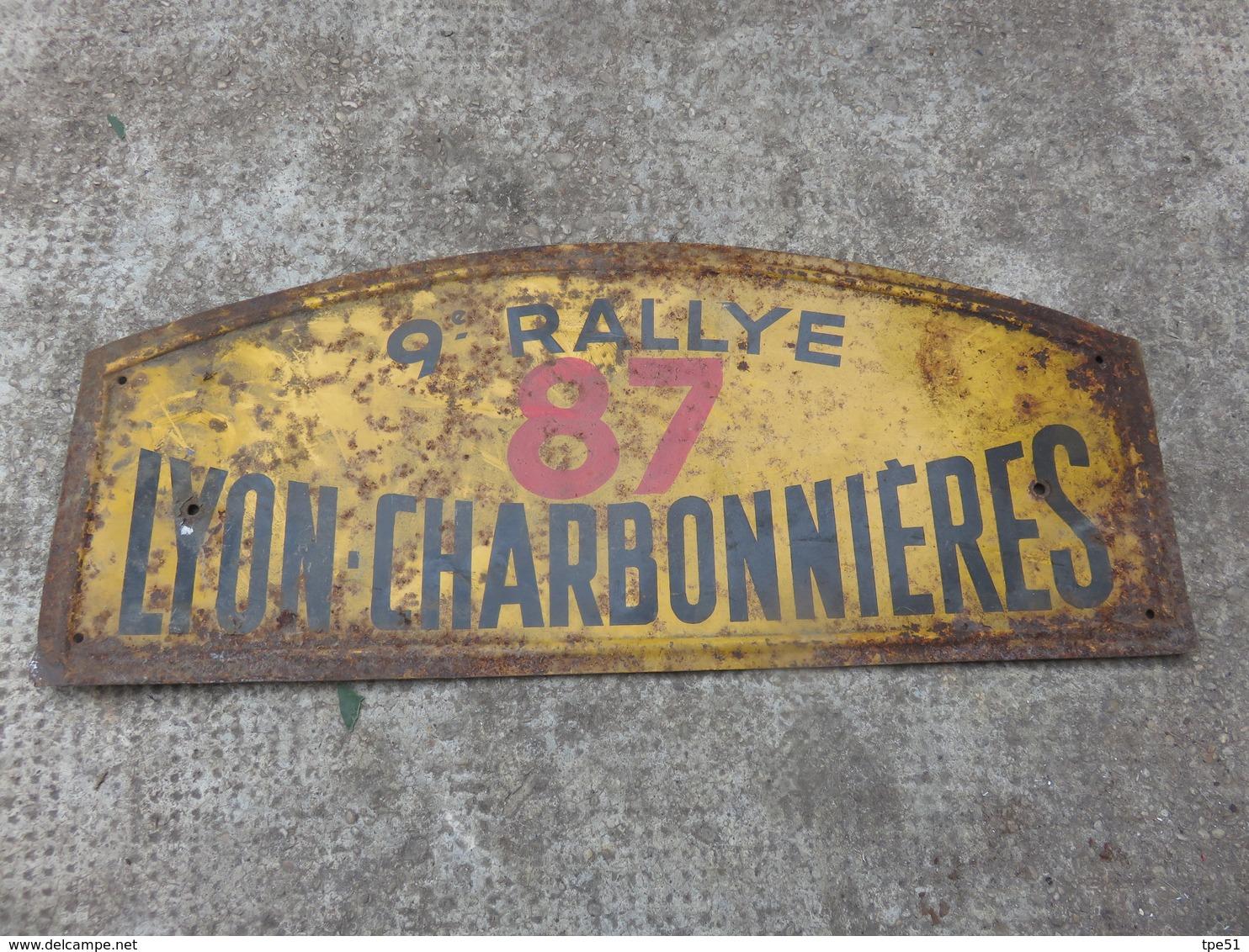 PLAQUE 9 RALLYE 87 LYON CHARBONNIERES - Voitures (Courses)