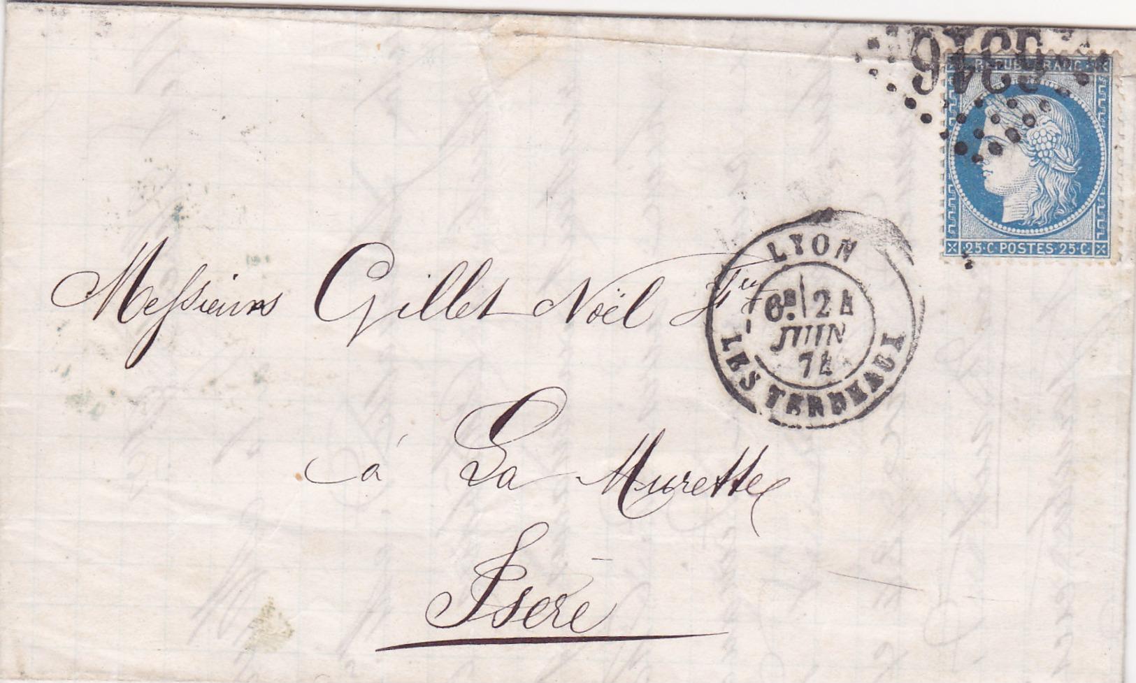 809-  CERES 60  -  LYON  A  LA MURETTE - Postmark Collection (Covers)