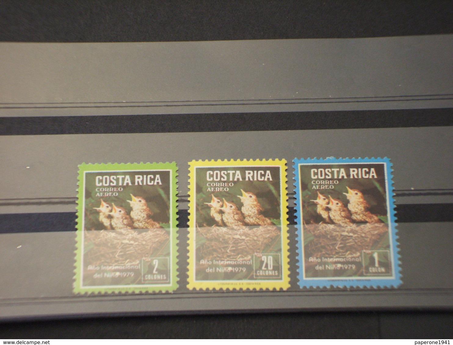 COSTA RICA - P.A. 1979 UCCELLI 3 VALORI - NUOVI(++) - Costa Rica