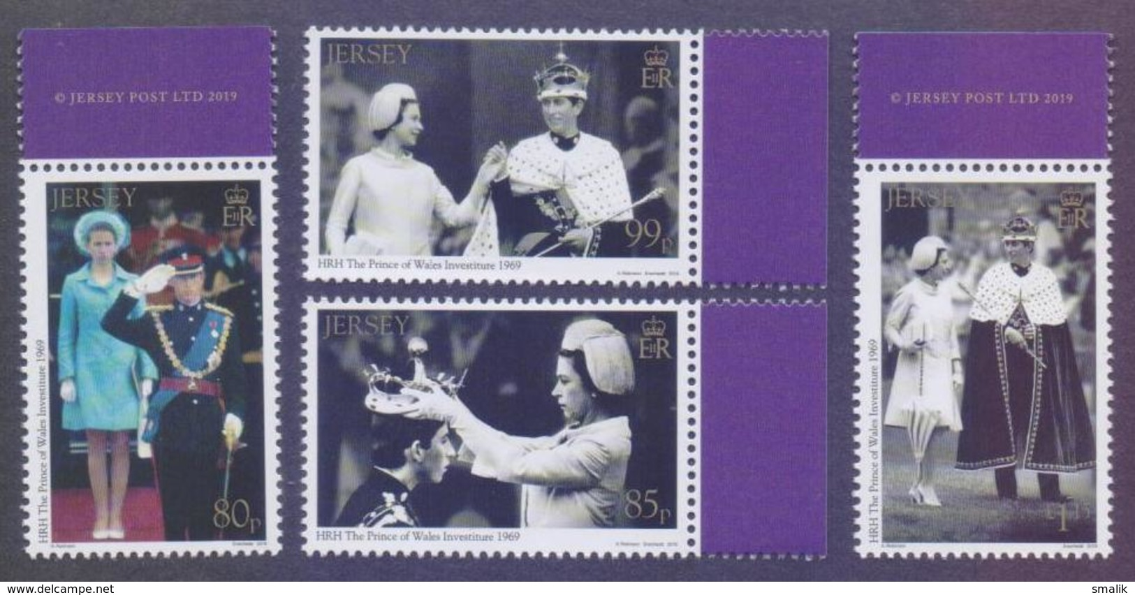 JERSEY 2019 - CHARLES, The Investiture Of HRH Prince Of Wales 1969-2019, Complete Set Of 4v. MNH - Jersey