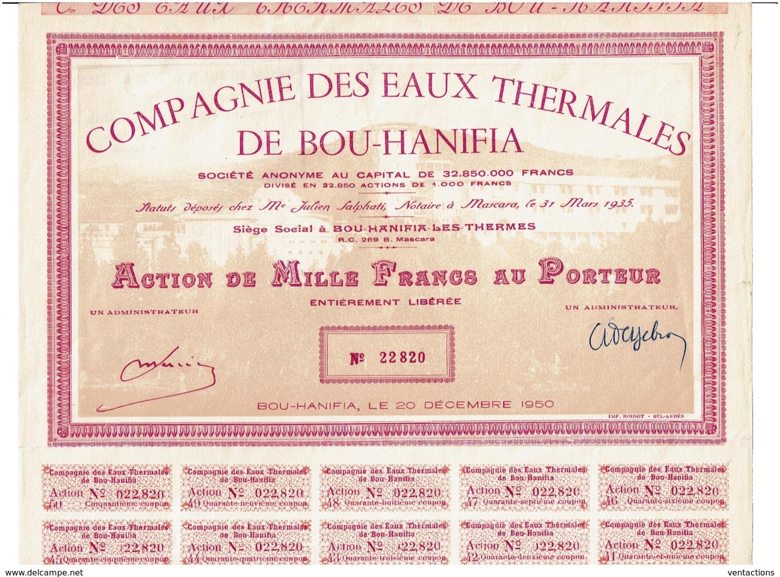 ALGERIE-EAUX THERMALES DE BOU-HANIFIA. DECO - Other