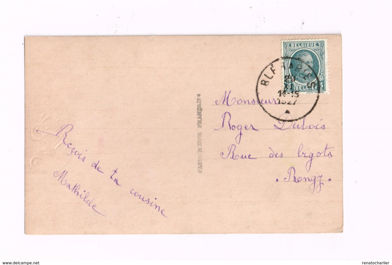Vive Saint-Eloi.Dame Rousse.Expédié De Bléharies à Rongy. - Women