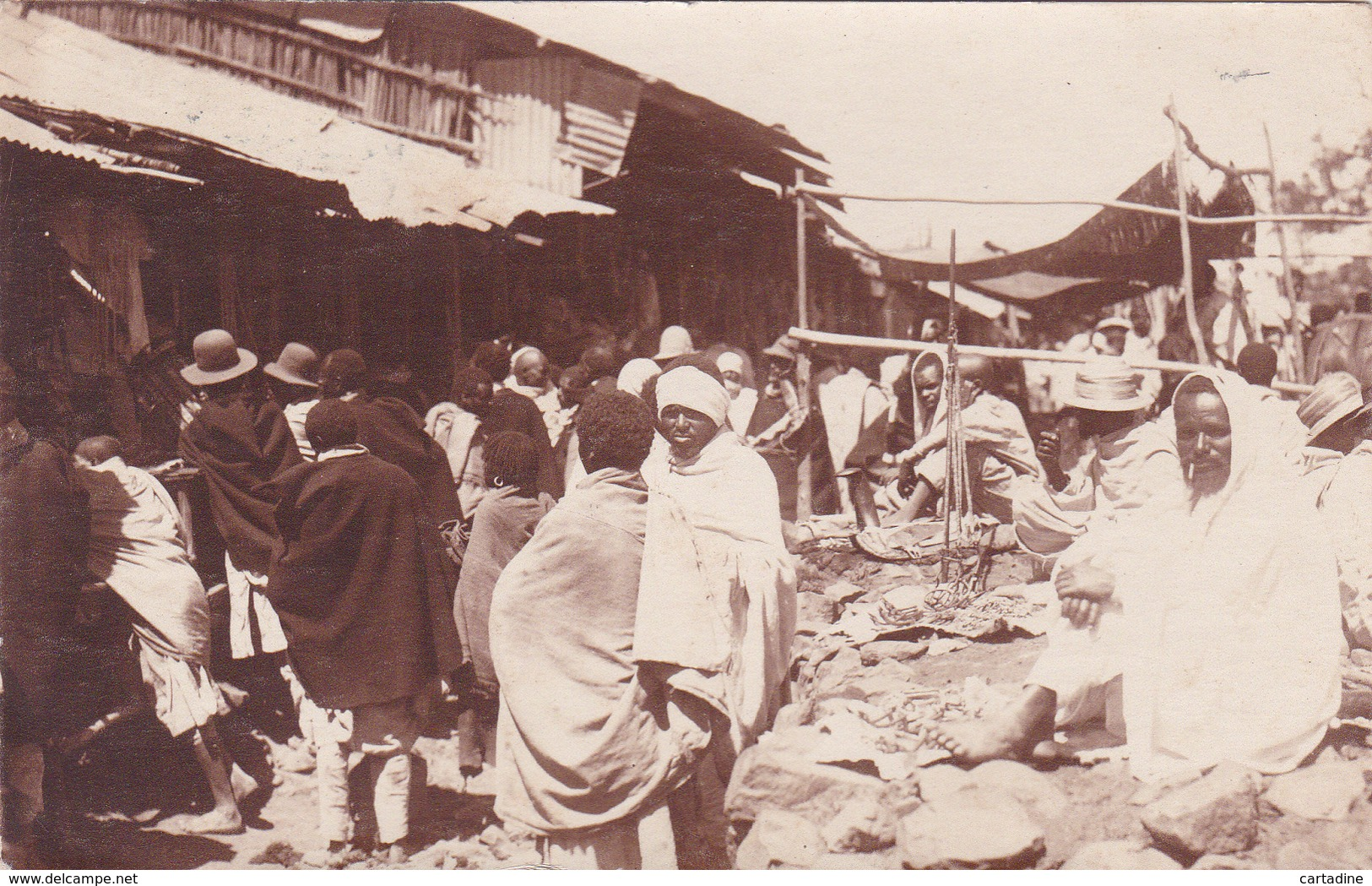 CPA Ethiopie - Addis Abeba - Le Marché - 1927 - Ethiopia