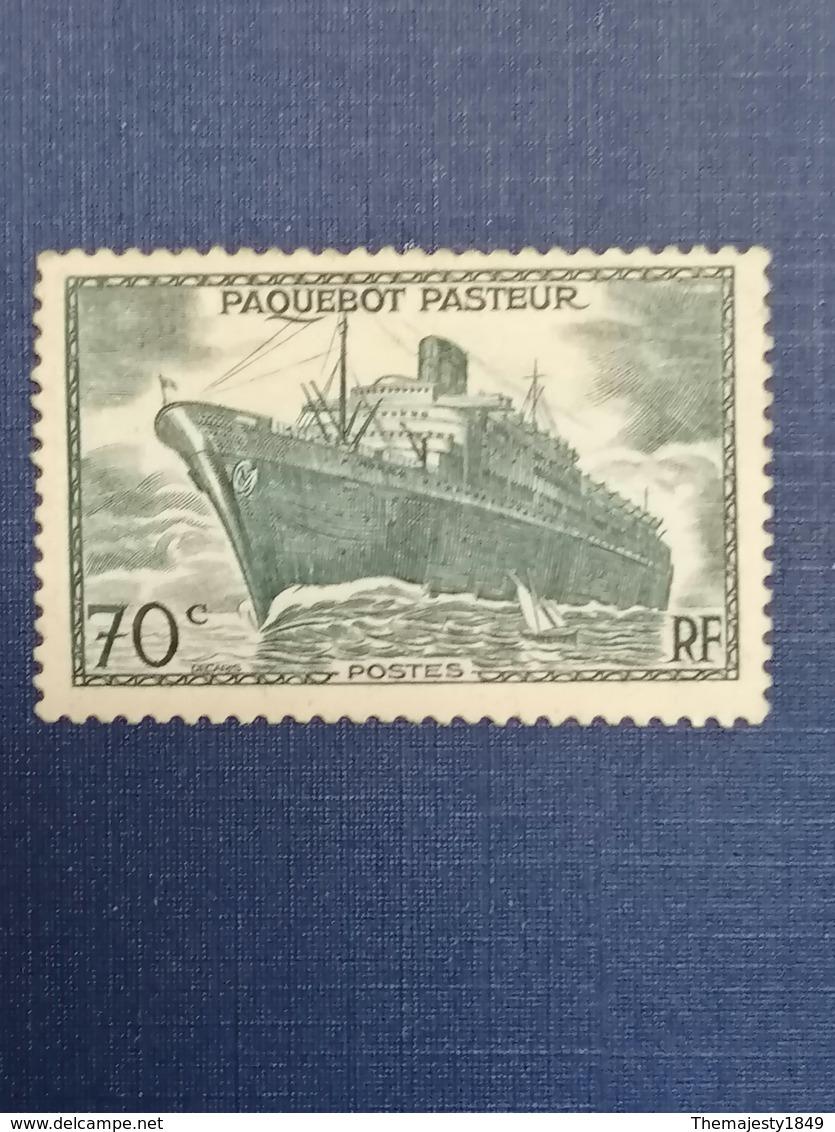 RARISSIME N°502b PAQUEBOT PASTEUR SANS SURCHARGE TRUQUÉ NEUF** & Signé BRUN  (cf Description) - Unused Stamps