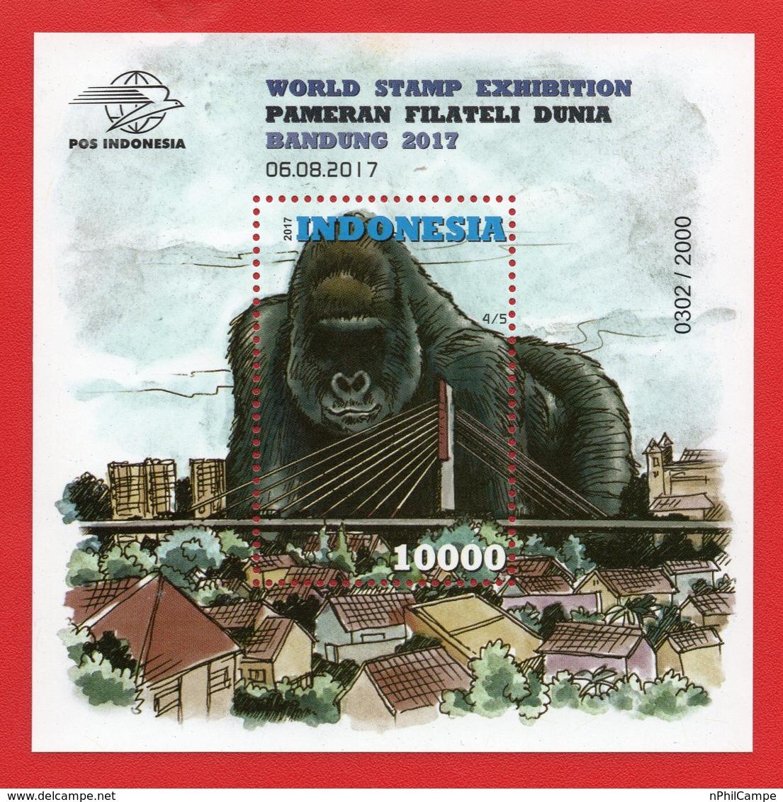 Indonesia 2017 SS Gorylla 4.5 MNH - Indonesia