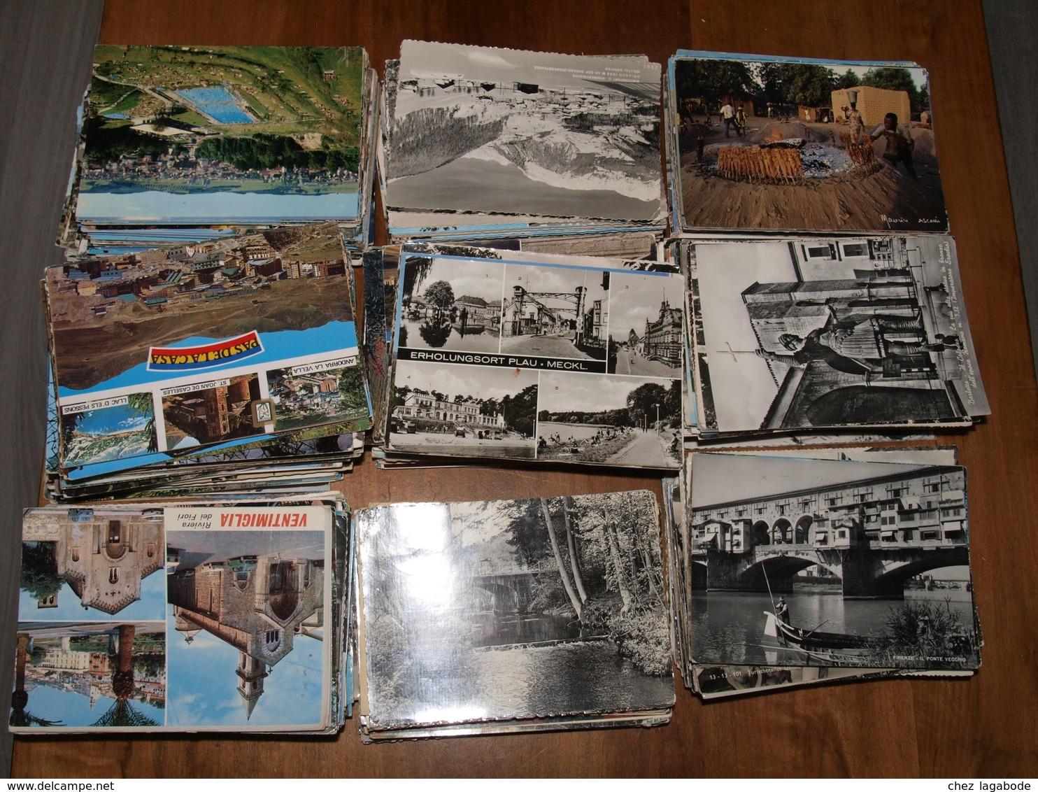 Tous Pays Sauf France :  Plus De 1700 Cartes CPM Et CPSM Format 10,5 X 15 Cm -  Lot Sympathique Et Propre - A Voir - Postcards