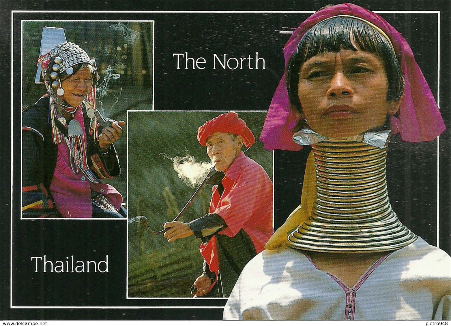 North Of Thailand, Group Of Hilltribe, Wearing Their Traditional Costumes, Especially Long Neck Karen Hilltribe - Tailandia