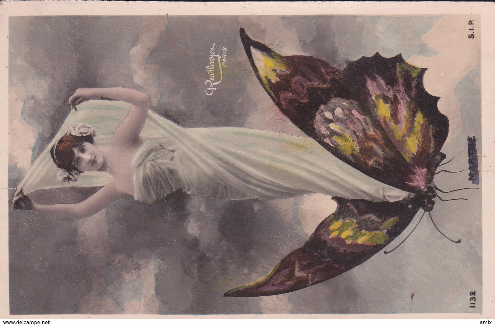 Reutlinger. Papillon. Voyagée 1906 - Women