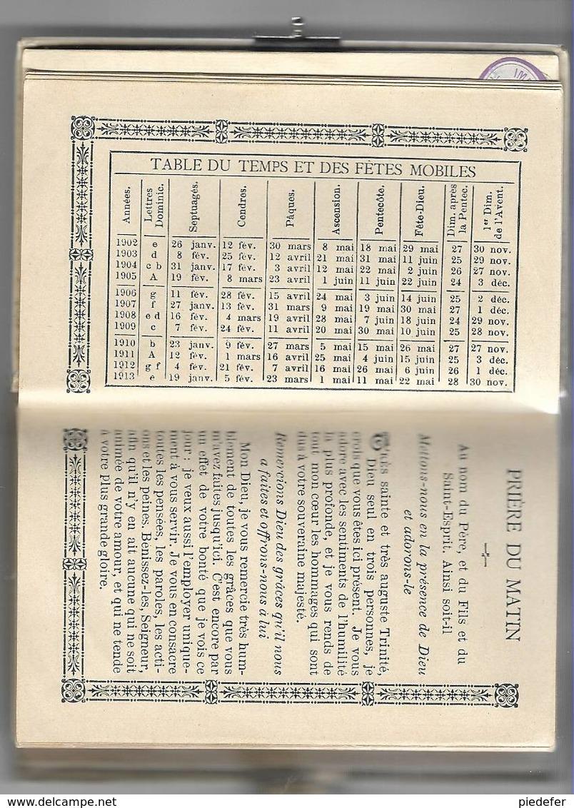 Petit Missel Paroissien Romain N° 239. Début 20éme. Couverture En Ivoirine. 3 Tranches Dorées. Très Bon état - Religión & Esoterismo