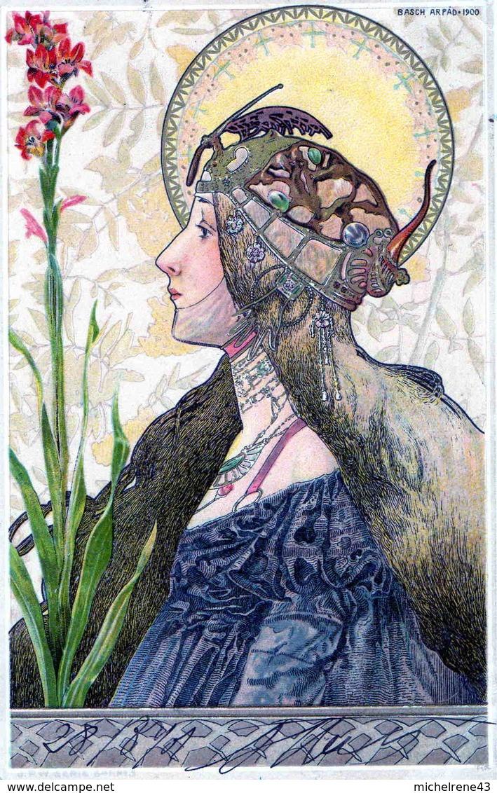CPA  ILLUSTRATEUR  BASCH ARPAD 1900 FEMME - STYLE MUCHA - Illustrateurs & Photographes