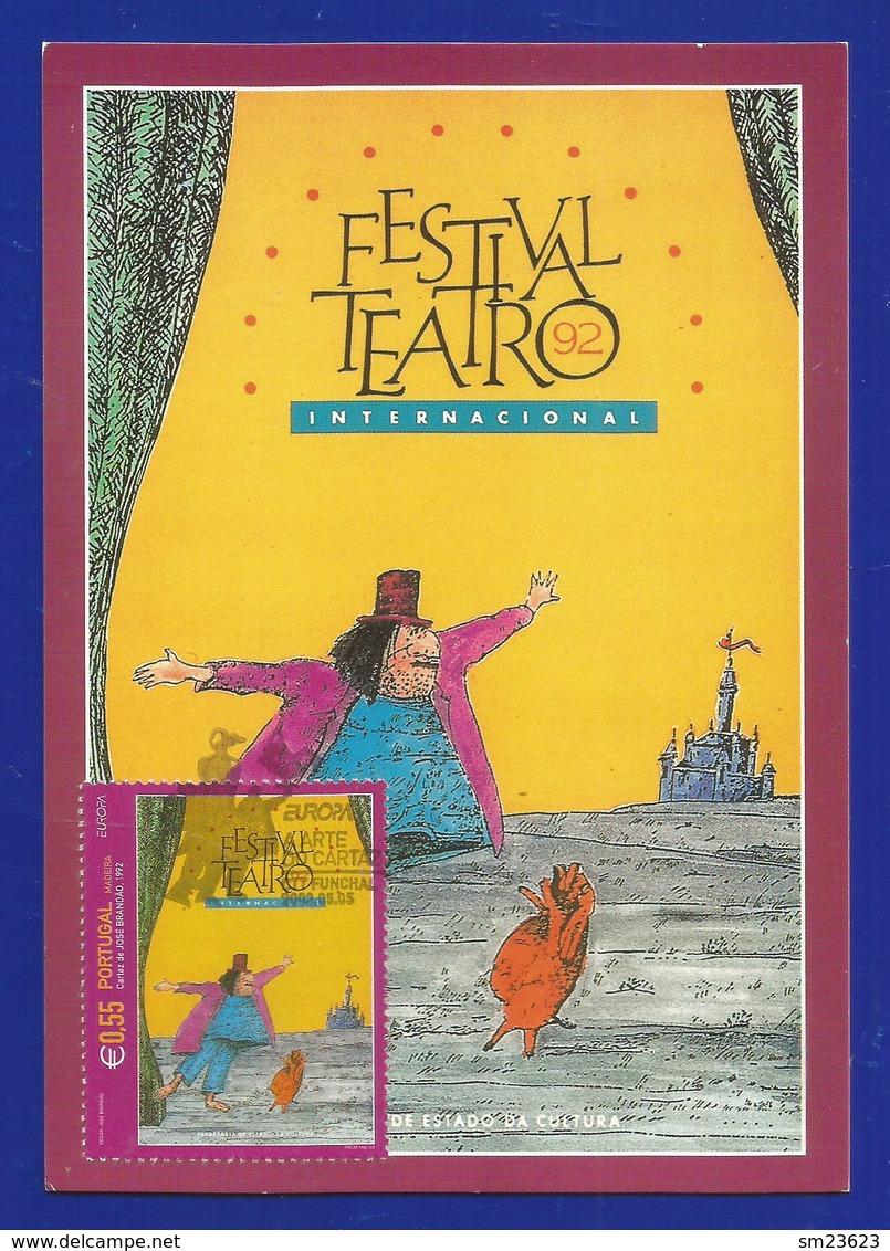Portugal / Madeira  2003  Mi.Nr. 222 , EUROPA CEPT Plakatkunst - Maximum Card - CTT Funchal 05.05.2003 - Europa-CEPT