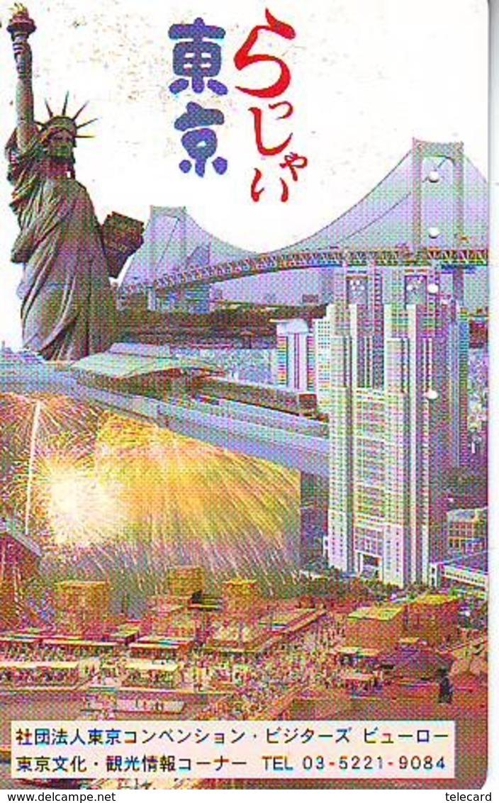 Télécarte JAPON (904) Statue De La Liberte * New York USA * PHONECARD JAPAN * STATUE OF LIBERTY * - Paysages