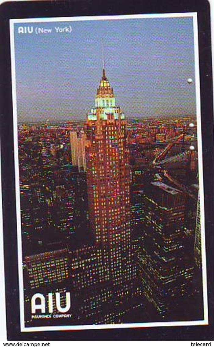 Télécarte JAPON (908) AIU  * New York USA * PHONECARD JAPAN *  TELEFONKARTE - Paysages