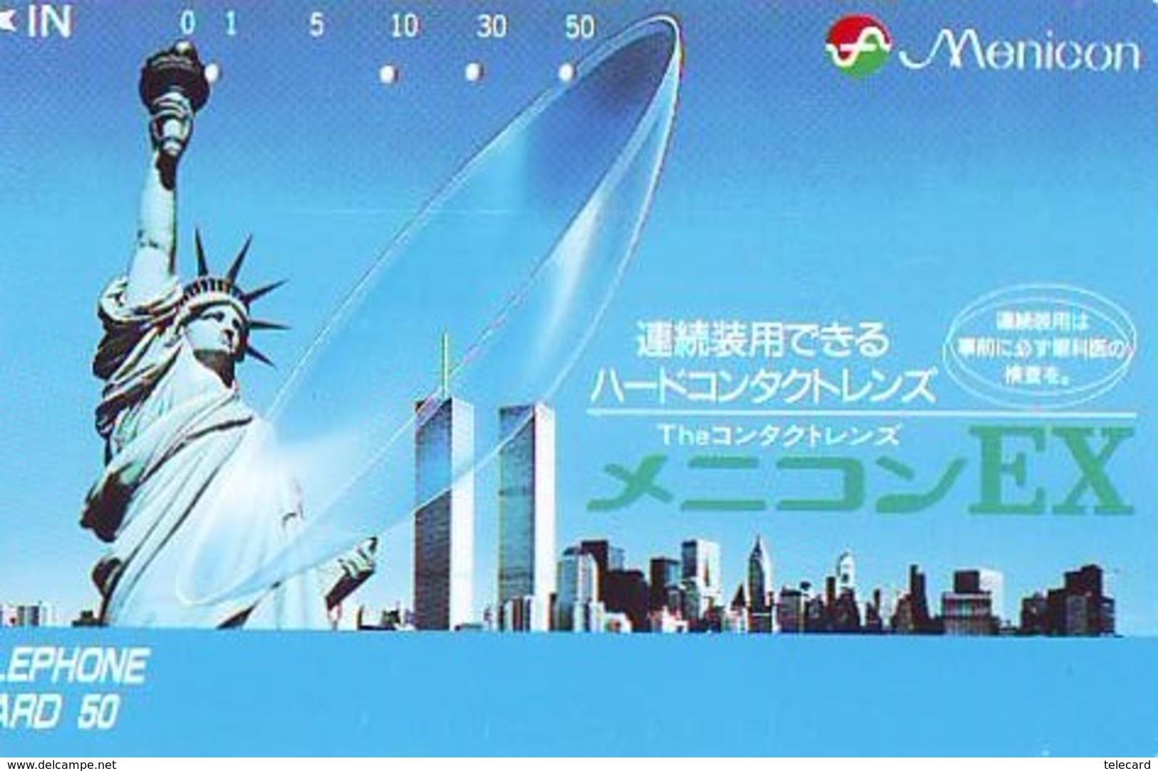 Télécarte JAPON (927) Statue De La Liberte * New York USA * PHONECARD JAPAN * STATUE OF LIBERTY * - Landschappen