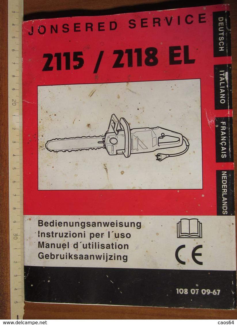JONSERED 2125/2118 EL ISTRUZIONI - Technical