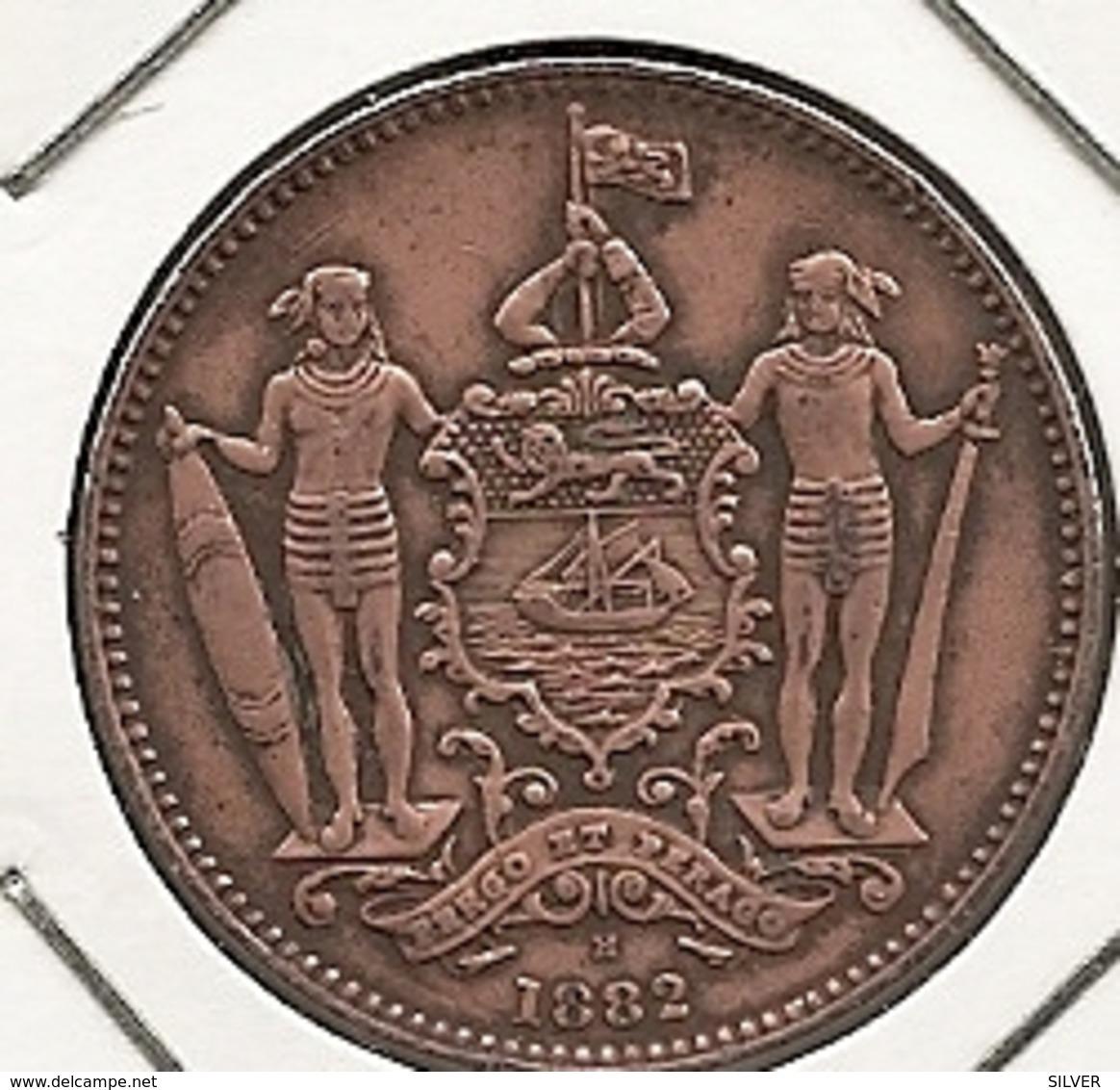 British North Borneo - Malaisie - 1 Cent 1882 H, Birmingham BON ETAT - Malaysie