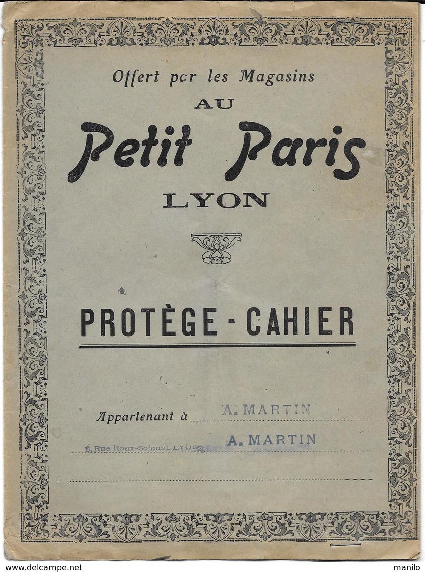 Protège-cahiers Publicitaire -  Magasin AU PETIT PARIS à LYON  Début XXe - Book Covers