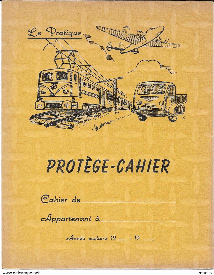 Protège-cahiers Publicitaire - LE PRATIQUE - Thème Des Transports - Ferroviaire, Aérien, Routier-Mesures Liquides & Bois - Book Covers