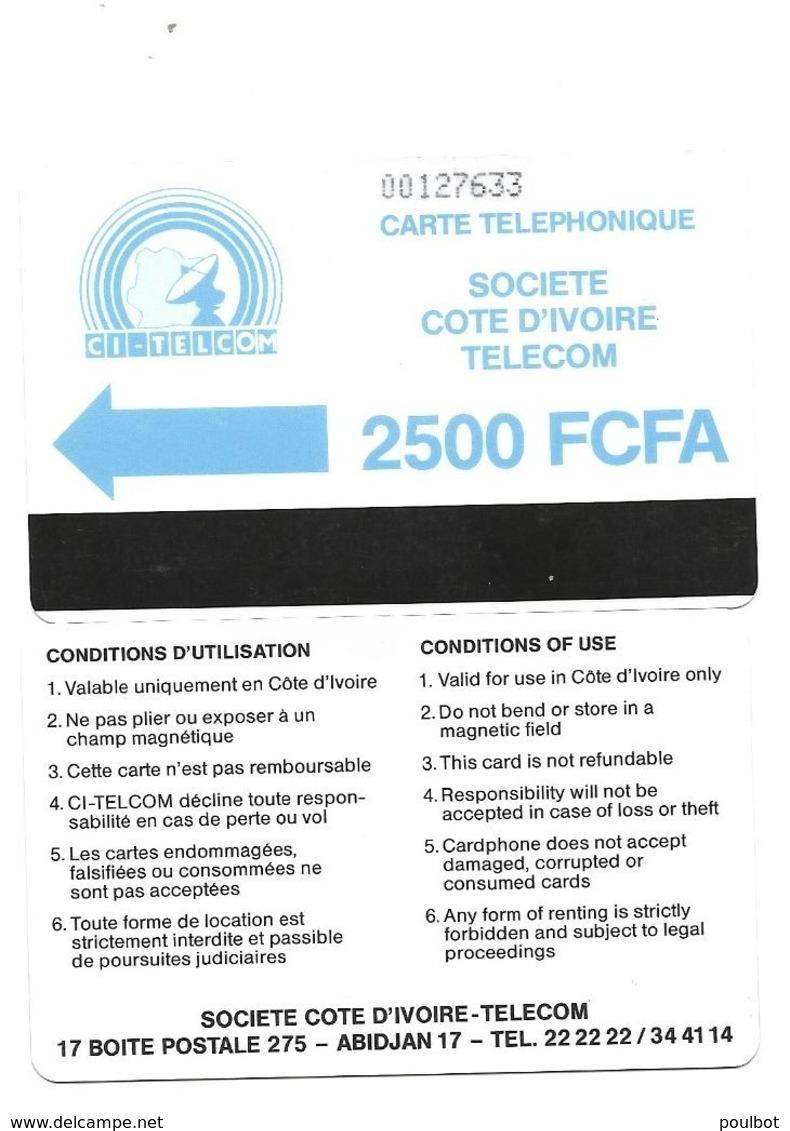 Télecarte Cote D'Ivoire CI TELCOM 2500 FCFA - Ivory Coast