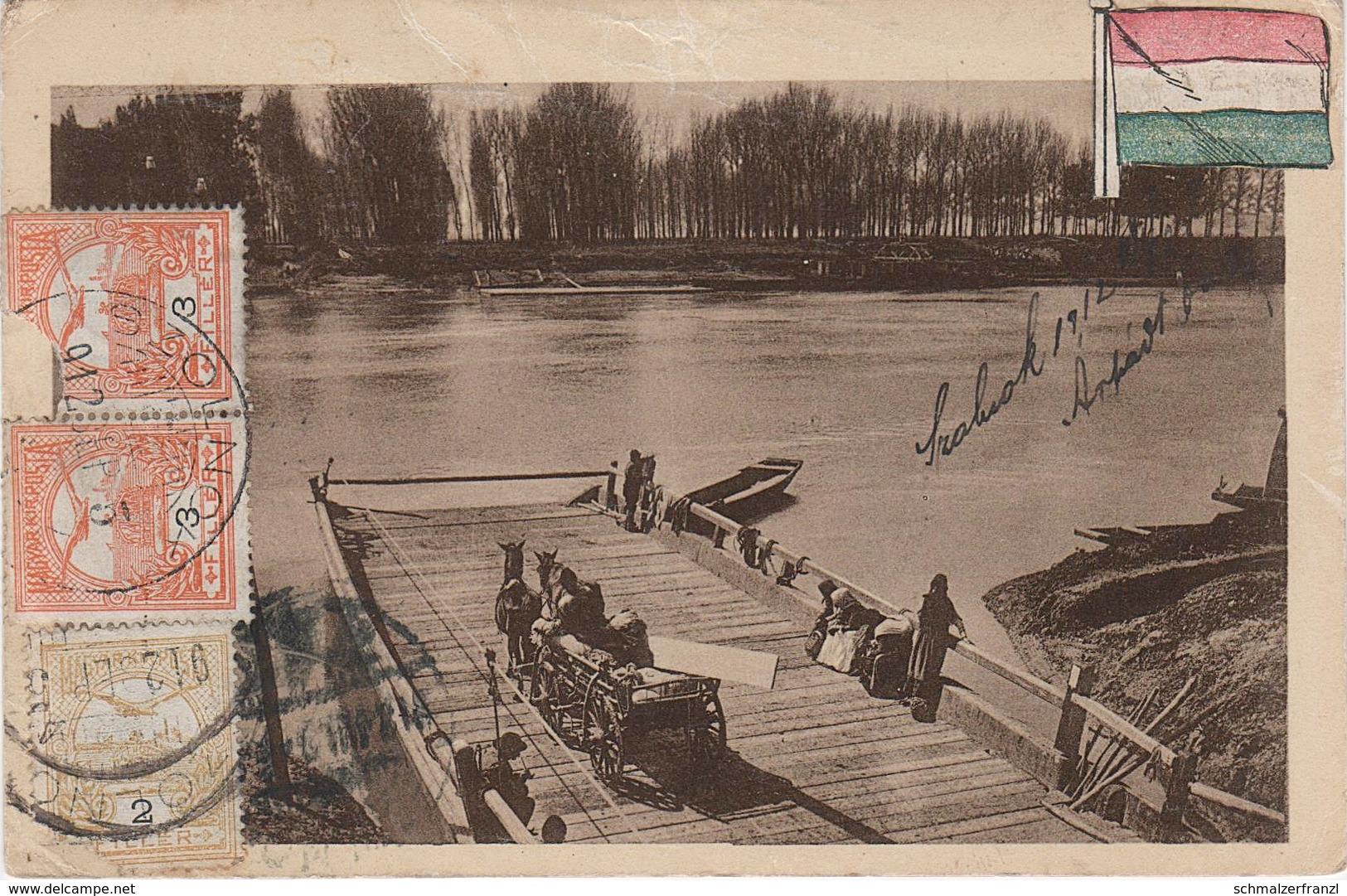 AK Szolnok Sollnock Tiszai Komp Theiß Fähre Bac Ferry A Abony Cegled Österreich Ungarn Magyarorszag Hongrie Hungaria - Ungarn