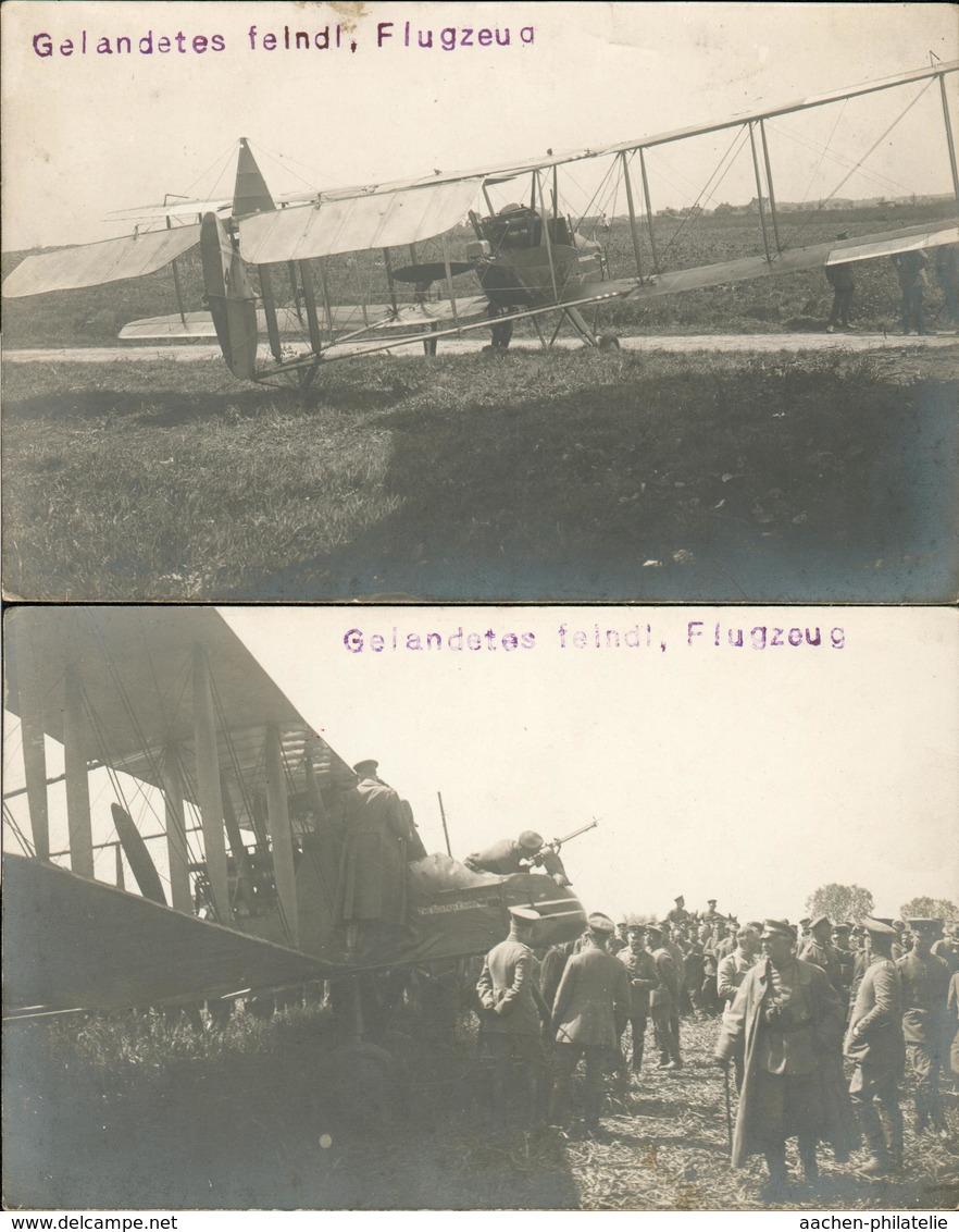 Fieldpost 2 Cards Hostile Aircraft Feindl.Flugzeug He36 - Weltkrieg 1914-18