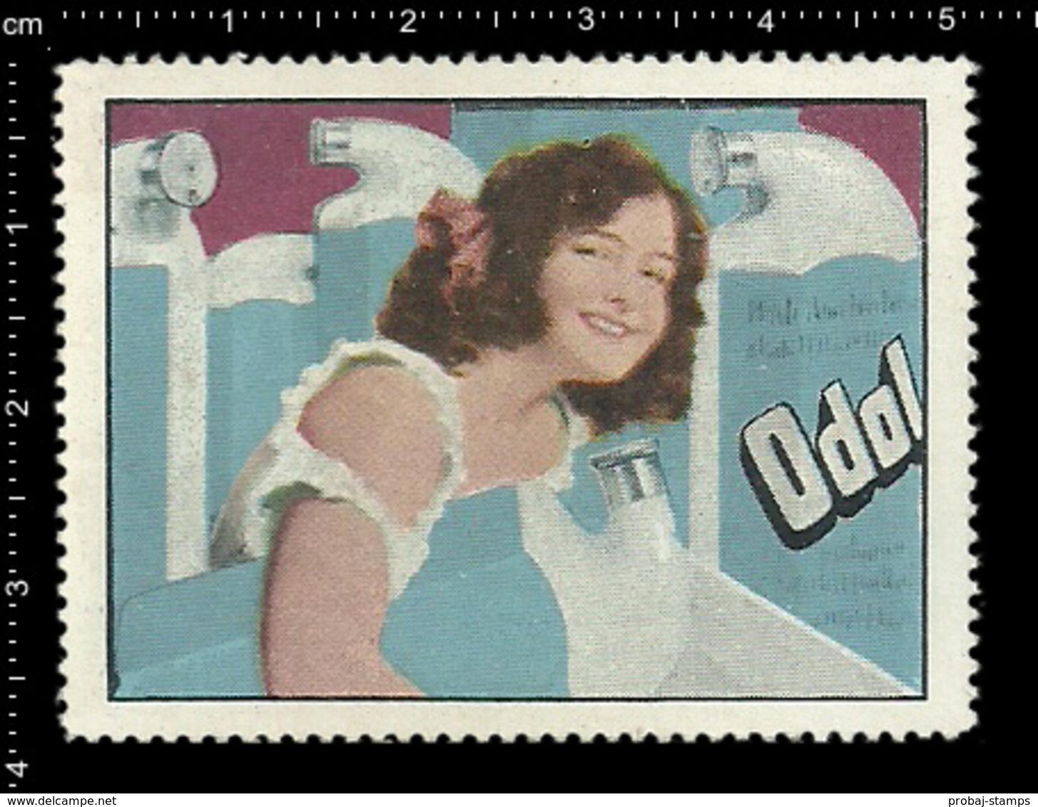 German Poster Stamp, Stamps, Reklamemarke, Cinderellas, Odol, Mouthwash, Dentist, Mundwasser, Zahnarzt, Tooth, Zähne - Cinderellas