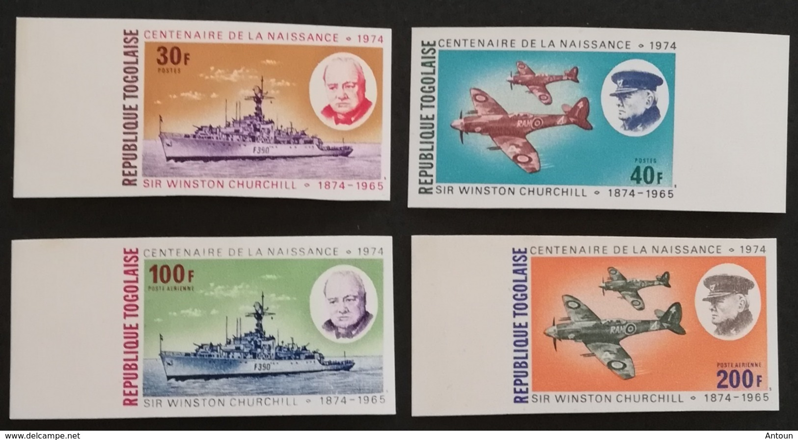 TOGO 1974 Winston  Churchill  (1874-1965) IMPERF. - Togo (1960-...)