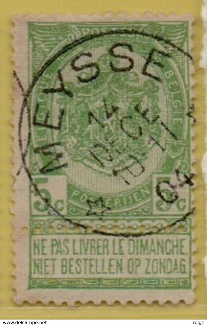 +MW-3964     *  MEYSSE *   OCB 56    Sterstempel     COBA   +15 - 1893-1907 Armoiries