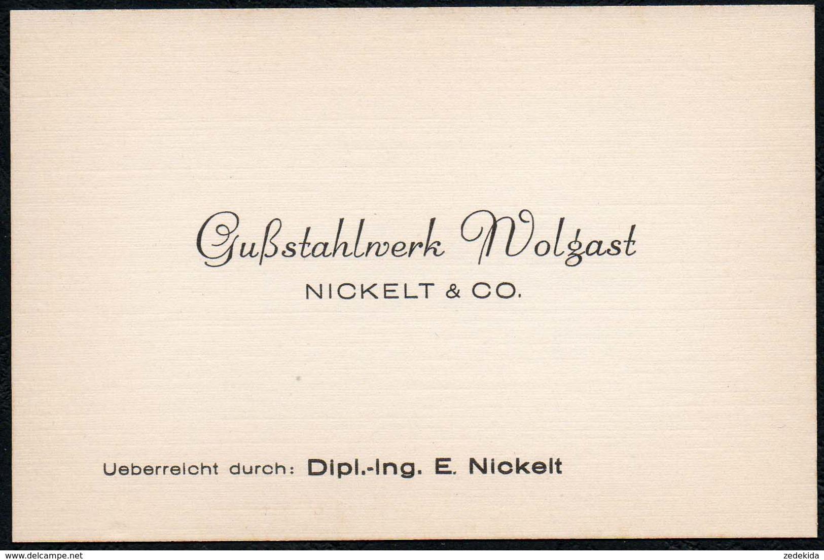 C0618 - TOP Nickel & Co Gußstahlwerk Wolgast  Visitenkarte - Visitenkarten
