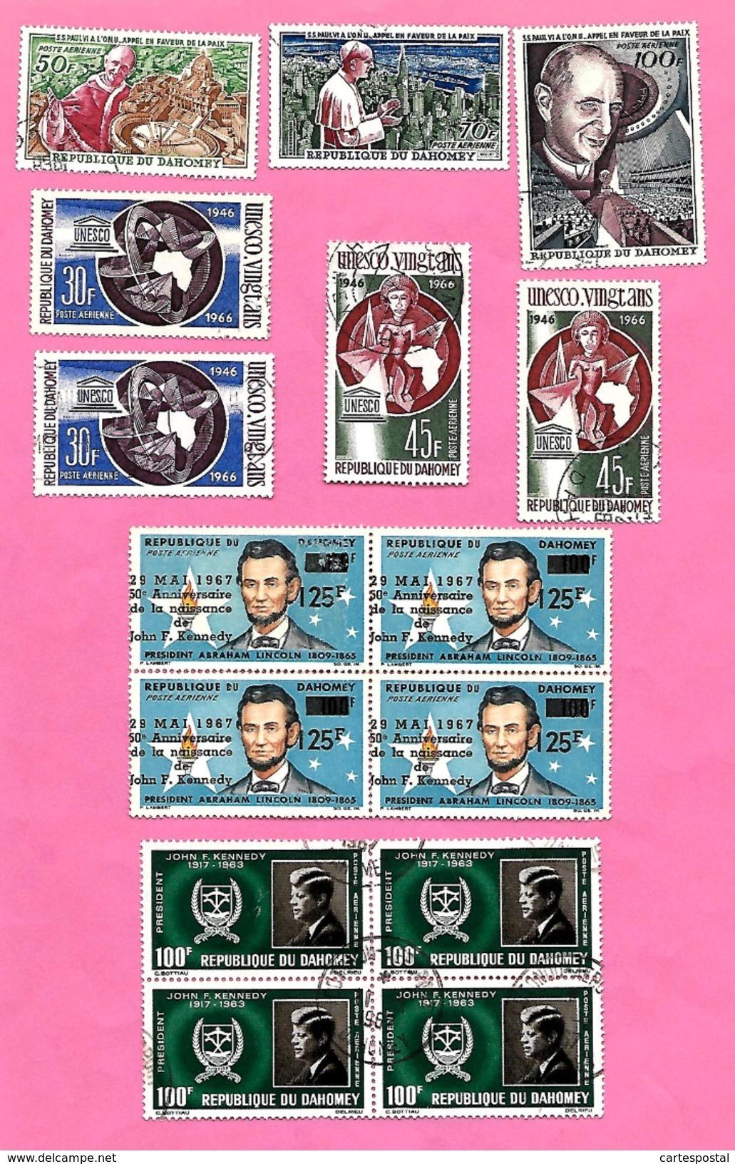 1585   ~~  1961 / 63 -  REPUBLIQUE   DAHOMEY  Poste  Aérienne  N°  PA Lot De Timbres - Bénin – Dahomey (1960-...)