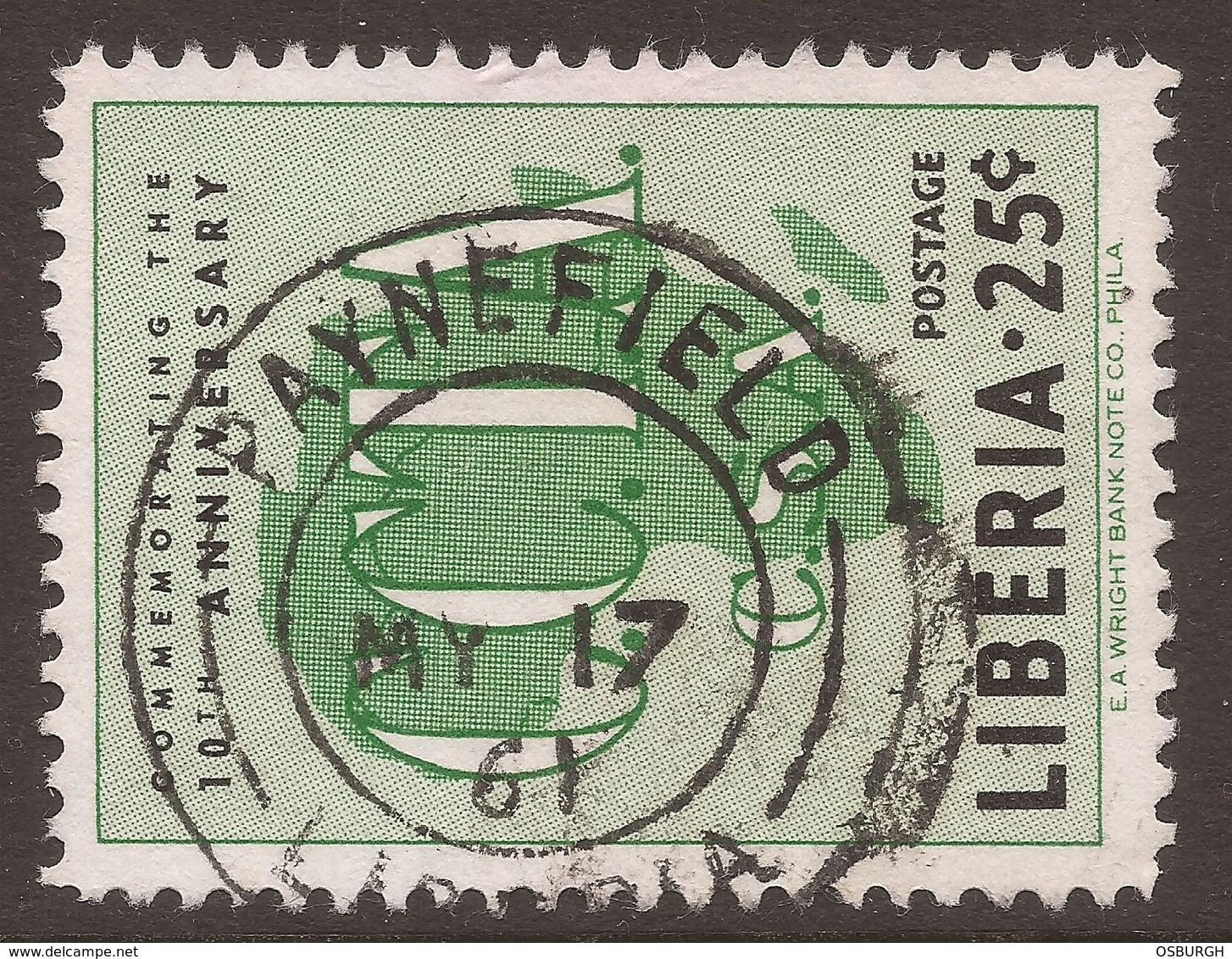LIBERIA. USED. POSTMARK PAYNEFIELD - Liberia