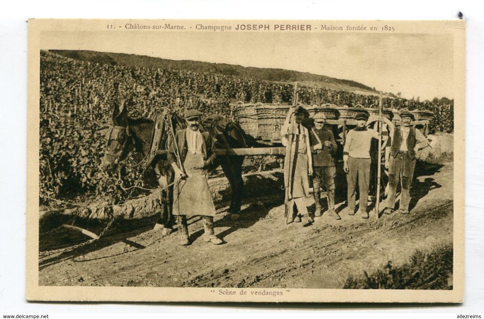 CPA 51 : CHALONS  Vendanges Chez Joseph Perrier  A  VOIR  !!!! - Châlons-sur-Marne