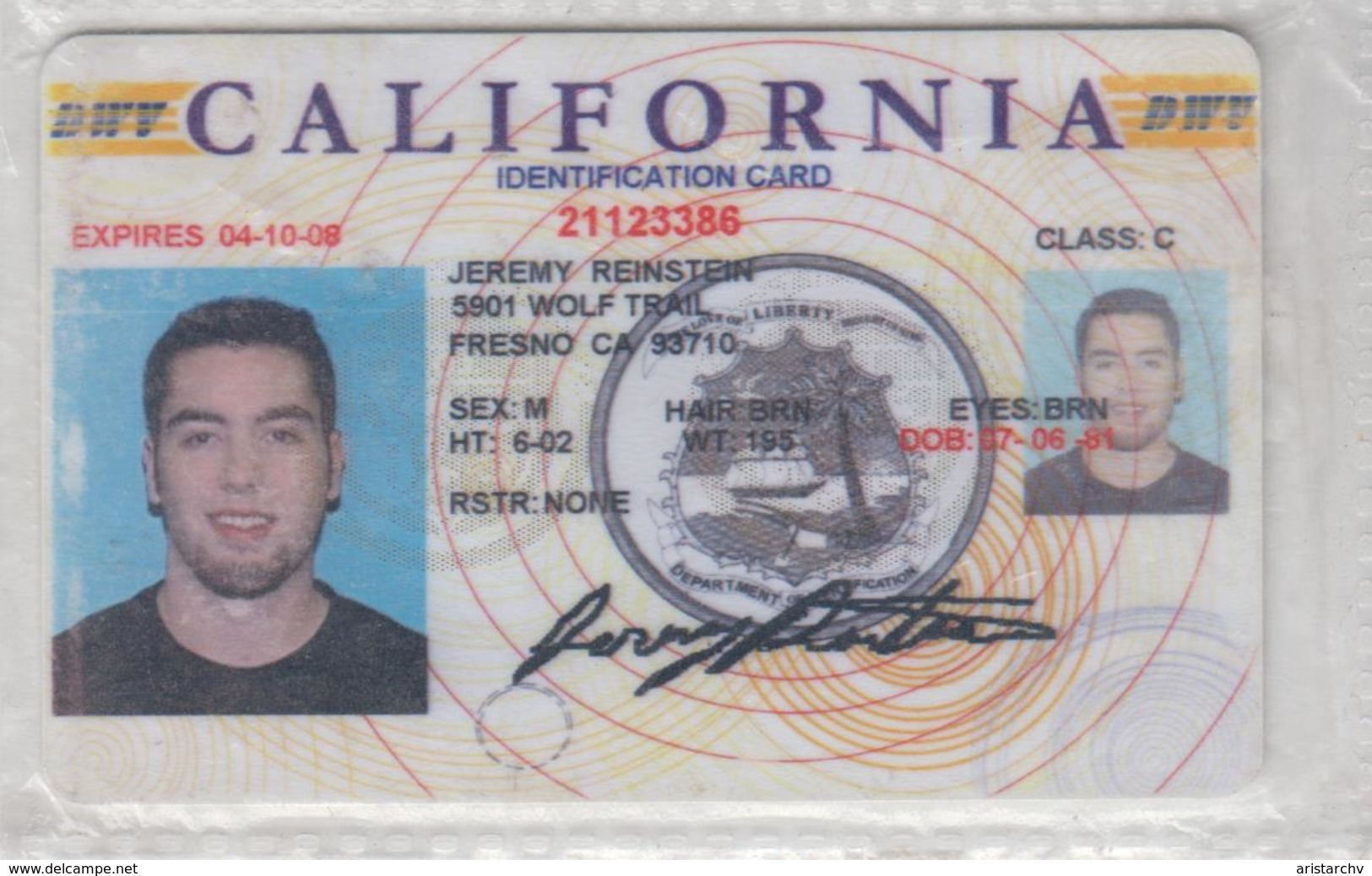 USA CALIFORNIA DRIVING LISENCE - Other Collections