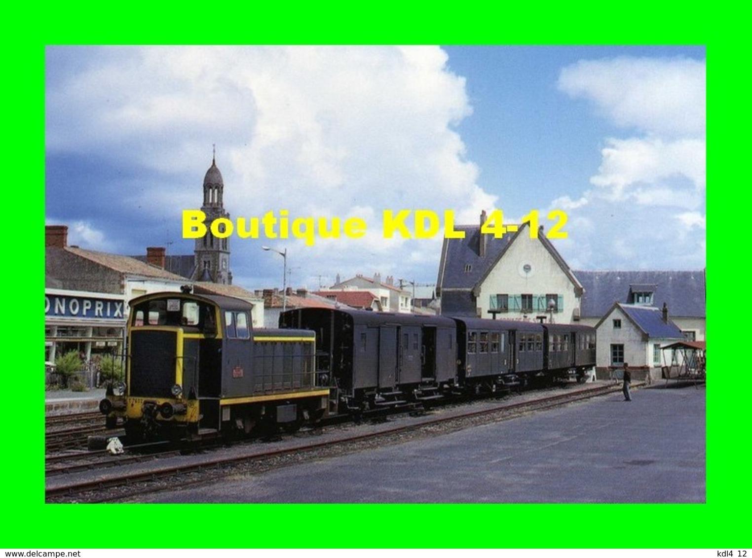 ART 124 - Train - Locotracteur Y 7602 En Gare - SAINT-GILLES CROIX DE VIE - Vendée - SNCF - Trains